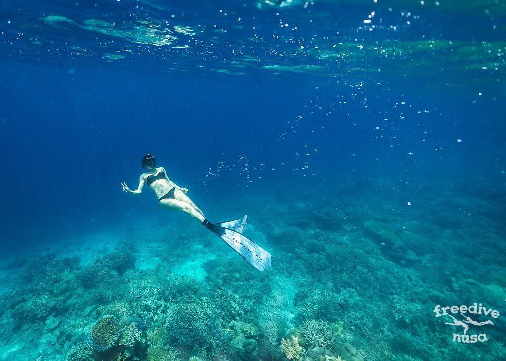 Freediving on Nusa Penida