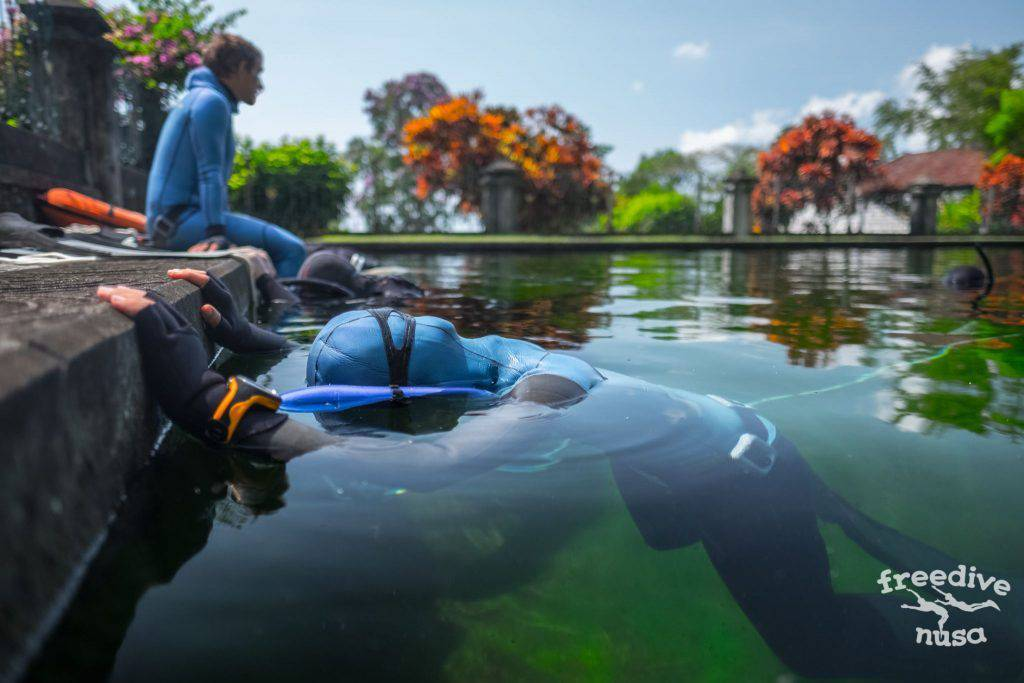 Freediving in Tirta Gangga