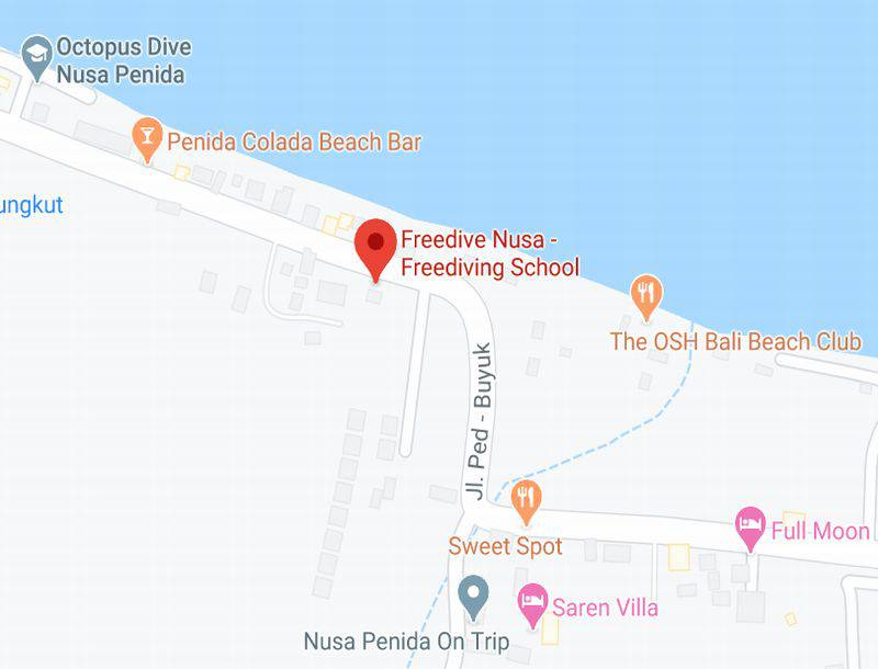 Location of Freedive Nusa