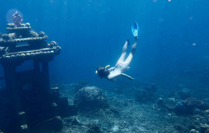 Freediving in Bali